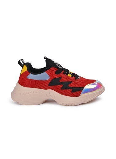 Tiffany&Tomato 9150485 Pudra Kadın Spor Ayakkabı Kırmızı